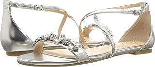 Jewel Badgley Mischka Women's Tessy Silver 2 7 M US