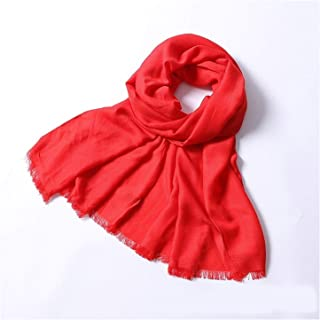Warp Knitting Oversized Shawl Super Wide Long Scarf Autumn Cotton Warm Scarf,Perfect Accent to Any Outfit (Color : 11, Size : 180 * 70cm)