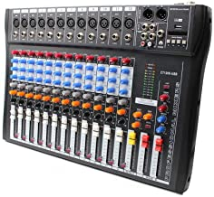 DONNGYZ Professional Live 12 Channel Live USB Audio Sound/Studio Mixing Console Board..