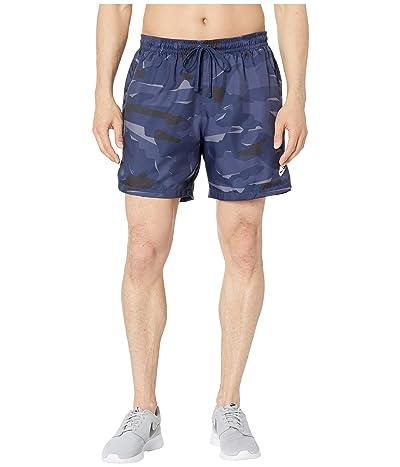 Nike NSW Camo Shorts Woven (Midnight Navy/Midnight Navy/White) Men