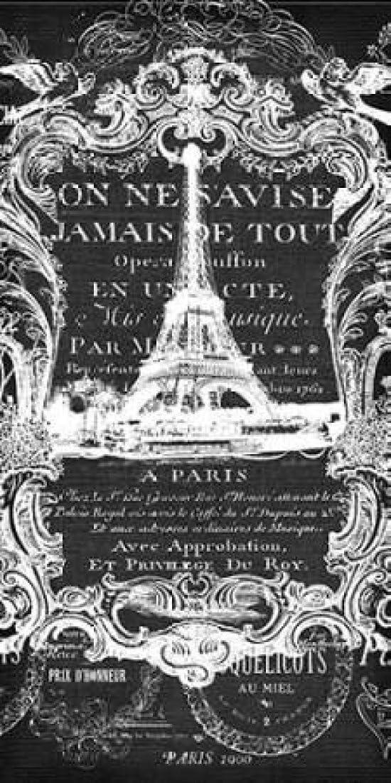 Paris Filigree Ranking Tampa Mall TOP1 Poster Print by Robertson 48 Walter x 24
