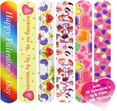 Cualfec 36 PCS Valentine's Day Magnetic Bookmark Great Valentine's Day Gift for School Prizes and Valentine's Party Favors for Kids - 6 Different Designs