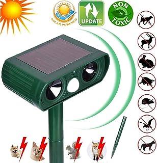 N3 ZELEK Repelente Ultrasónico de Gato, Bateria Solar, Verde, 1 Pieza