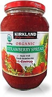 Kirkland Signature Organic Strawberry Spread - 42 Oz (2lb), Made with Fresh Strawberries, 65% Fruit, Preserves, Jam