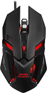 Mars Gaming MRM0   PC Maus, 4000Dpi, Optisch, RGB Flussbeleuchtung, 6 Tasten