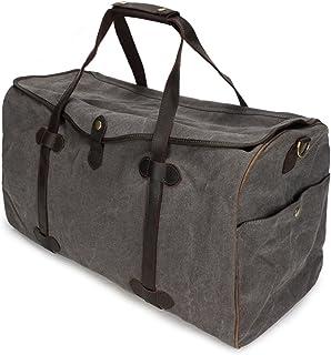 LIUFULING Men's Canvas Travel Bag Large Capacity Vintage Canvas Bag Multifunctional Portable Weekend Bag (Color : Gray, Size : L)