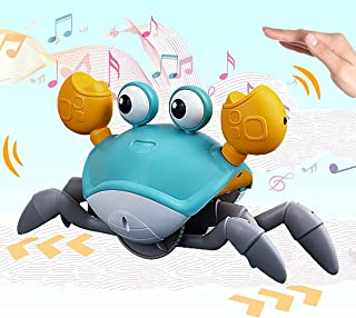 Catch Me, Electric Runaway Crab, Baby Educational Toddler Toy, Interactive Escaping Toys With Led And Music,Best Gift For ...