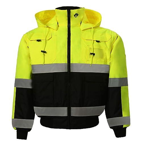 da845ba7d Safety Depot Safety Jacket Class 3 ANSI Approved 8 Pockets, Reversible  Clear ID Pocket,