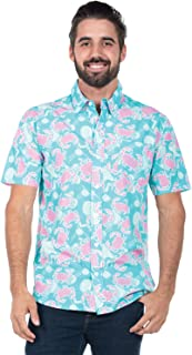 Men's Bright Hawaiian Shirt for Summer Aloha Shirt for Guys