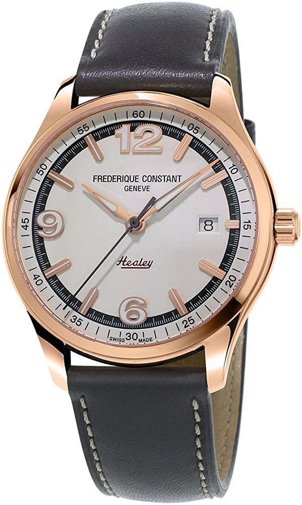 Frederique constant orologio uomo automatico in acciaio e pelle FC-303WGH5B4
