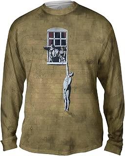 Yizzam- Graffiti Banksy Window Lover -Tshirt- Mens Long Sleeve