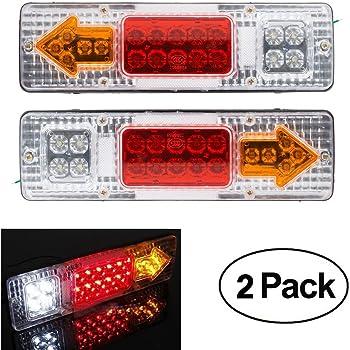 SANON 2 Pz 12V Auto Impermeabile 36 Led Fanale Posteriore Fanali Posteriori per Luce Auto Camion Rimorchio