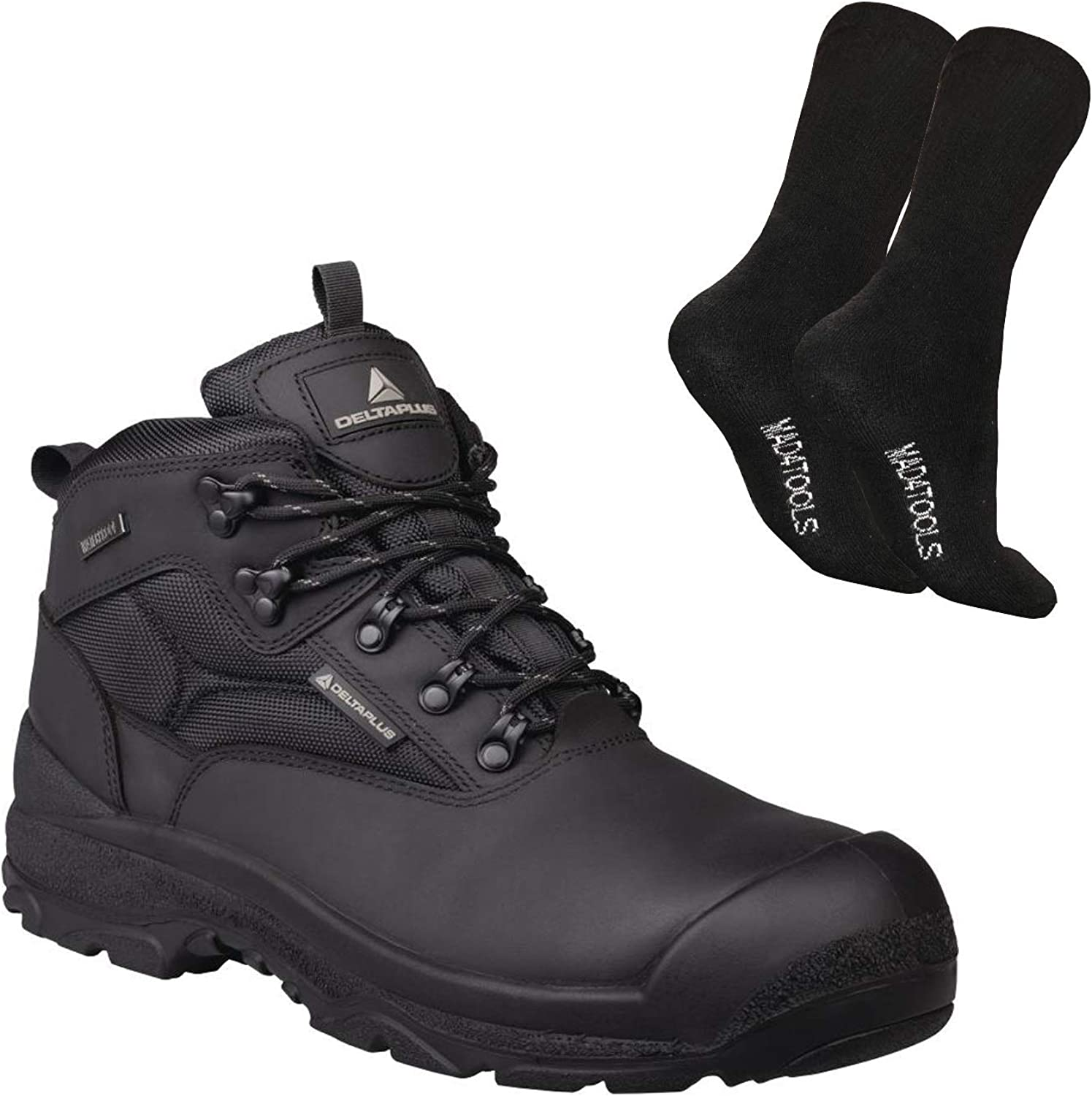 Deltaplus Samy Waterproof Safety Boots & mad4tools Work Socks