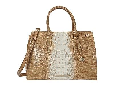 Brahmin Ombre Melbourne Finley Carryall Satchel (Praline) Handbags
