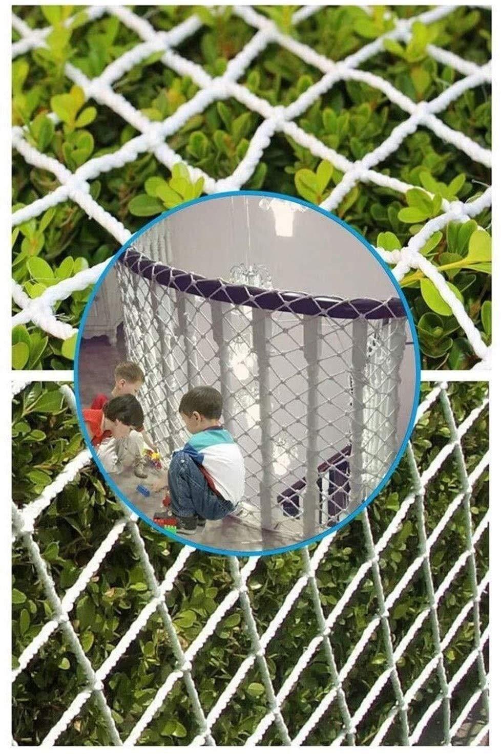 Anti-ca/ída de escaleras Parque Infantil Web Resistente a roturas de la Red decoraci/ón-1 1M Malla de 5 cm Alaeo Seguridad Red de Cuerda Nylon Carga Neta de Escalada al Aire Libre Neta