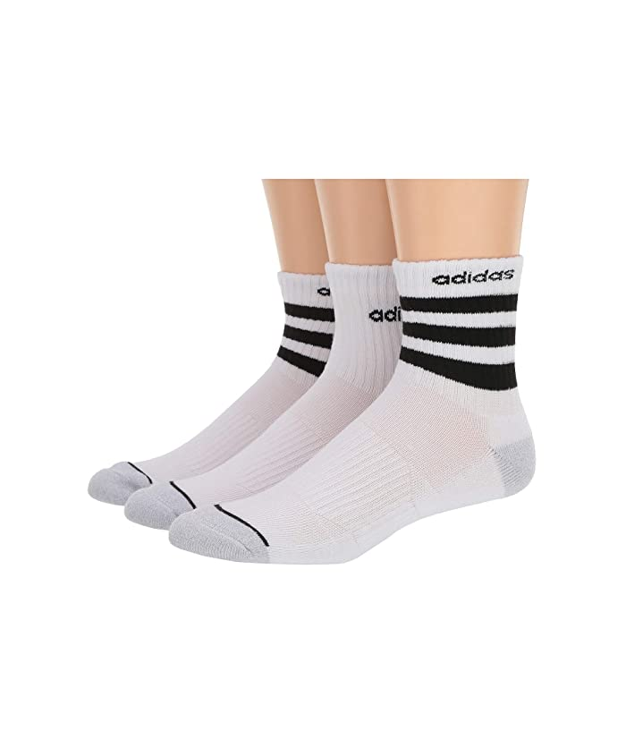 adidas 3-Stripe High Quarter Socks 3-Pack