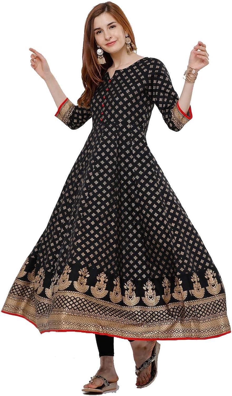 Kurti for Women Printed long Anarkali Par Top Tunic Kurta Award Ethnic Dallas Mall