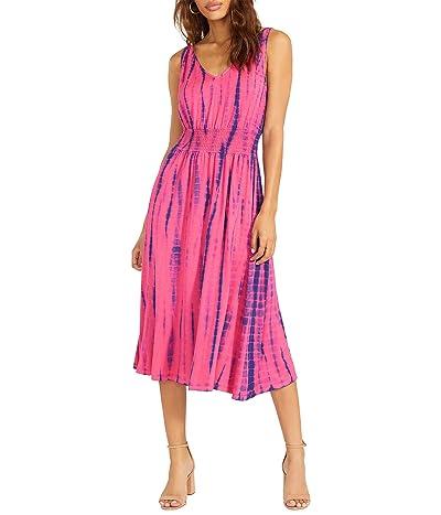 BB Dakota x Steve Madden Miss Bliss Dress Tie-Dye Knit Smocked Waist Dress