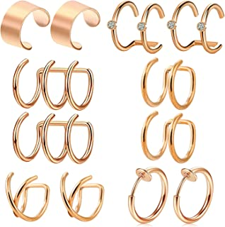 Femmes Hommes Coeur Creux étoile couronne acier inoxydable oreille Stud Clip Boucles d/'oreilles Eardrop