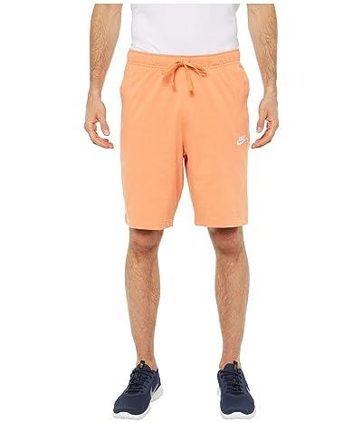Nike NSW Club Shorts Jersey (Orange Trance/White) Men
