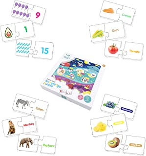 4in1 Preschool Educational Matching Puzzle, 120 Self-Correcting Spelling Puzzles for Toddler, Sight Word Spelling Puzzles ...