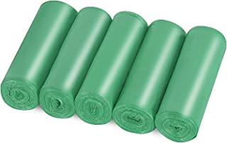 4 Gallon Small Trash bags Strong Wastebasket Liners Bags 15-Liters Garbage Bags for Office,Bedroon,Bathroom, Kitchen, Home(125 Counts -Green)