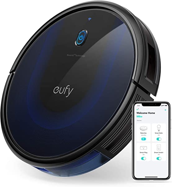 Eufy BoostIQ RoboVac 15C MAX Wi Fi Connected Super Thin 2000Pa Suction Quiet Self Charging Robotic Vacuum Cleaner Cleans Hard Floors To Medium Pile Carpets Black