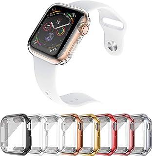 Cover per Apple Watch, 8 Pacchi Protettiva In TPU Custodia Morbida Compatibile con Apple Watch Serie SE 6 5 4 3 2, Anti-Gr...