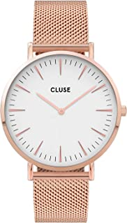 CLUSE Women's Quartz Watch with Stainless Steel Strap, Rose Gold, 18 (Model: CW0101201001)