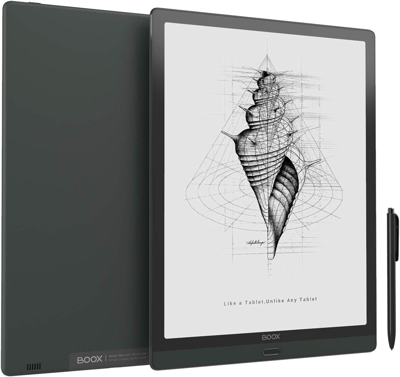 BOOX Max Lumi 13.3 ePaper, Front Light, Android 10, Fingerprint Recognition, 207dpi, BT 5.0 Digital Paper 4G 64G