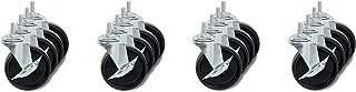 Honey-Can-Do 4-Inch Caster Roller Wheels for HCD Shelving Unit, Set of Four