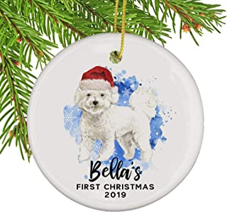 Personalized Bichon Frise Dog Christmas Ornament
