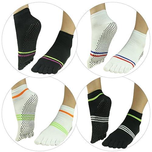 057a94dbb Non Slip Yoga Socks,J'colour Pilates Barre Gripes Ankle Sports Athletic  Socks