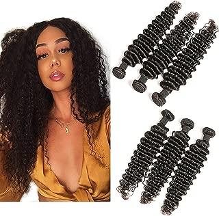Peruvian Hair Bundles 14 16 18 Inch 3 Pcs 100G/Pcs Virgin Unprocessed Human Hair Weave Sew In Hair Extensions For Black Women
