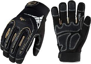 Vgo 3-Pairs High Dexterity Heavy Duty Mechanic Glove, Rigger Glove, Anti-vibration,..