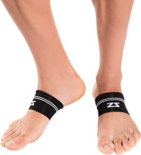 Zensah Arch Supports - Relieve Plantar Fasciitis and Heel Pain, Support Weak Arches, Compression Foot Sleeves