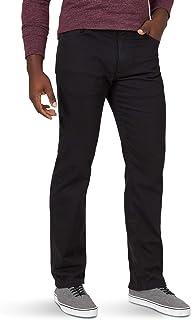 Wrangler Authentics Men's Classic 5-Pocket Regular Fit Jean, Black Flex, 40W x 28L