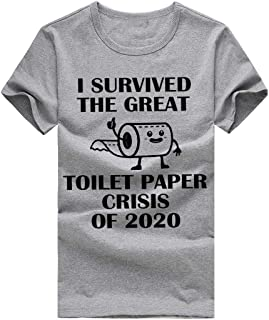 DAYPLAY I Survived The Great Toilet Paper Crisis of 2020 Womens Tops and Blouses Plus Size T-Shirt for Men Tee Shirt