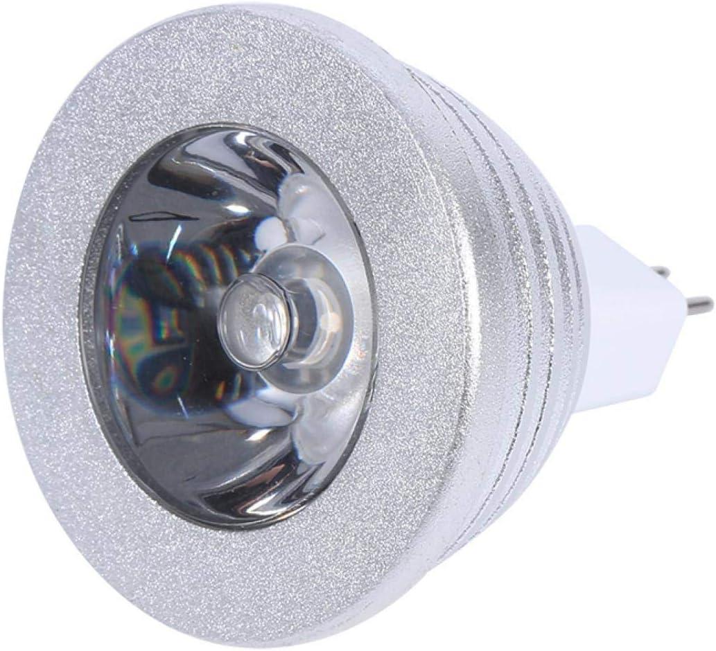Bombilla de lámpara cambiante, Mr16 3w RGB Led Color de luz 12v-24v, con Control Remoto, Carcasa de Aluminio Duradera, Proporciona Modos de luz, para iluminación del hogar, Cine en casa, Estudio