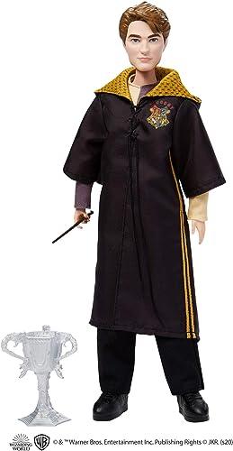 Harry Potter poupée de collection Cédric Diggory de 26,5cm avec baguette et coupe du Tournoi des Trois Sorciers, jou...