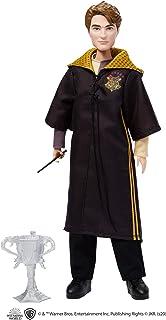 Harry Potter poupée de collection Cédric Diggory de 26,5cm avec baguette et coupe du Tournoi des Trois Sorciers, jouet po...
