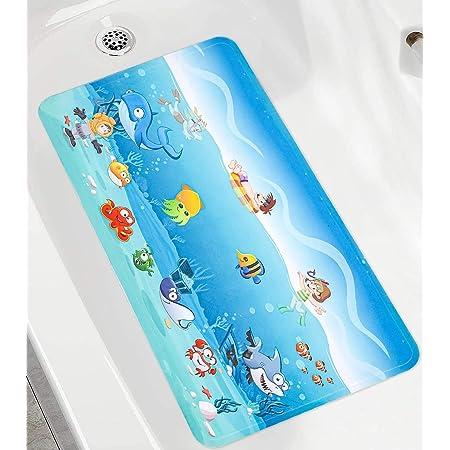 Bathtub Mats Non Slip Anti Mould Bathroom Shower Mat Foot Mat with Suction Cups 100/% Non-toxic Mini Penguin
