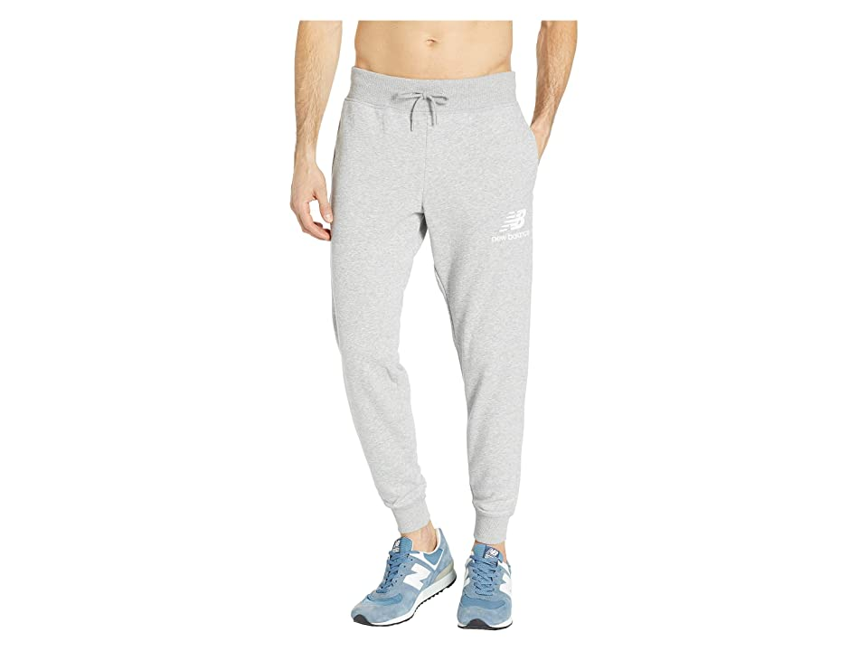 New Balance Essentials Stacked Logo Sweatpants (Athletic Grey) Men