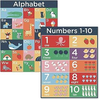 """Hubble Bubble Kids Abcのアルファベットナンバーウォールポスター - 16X20"""" 教室チャート"""