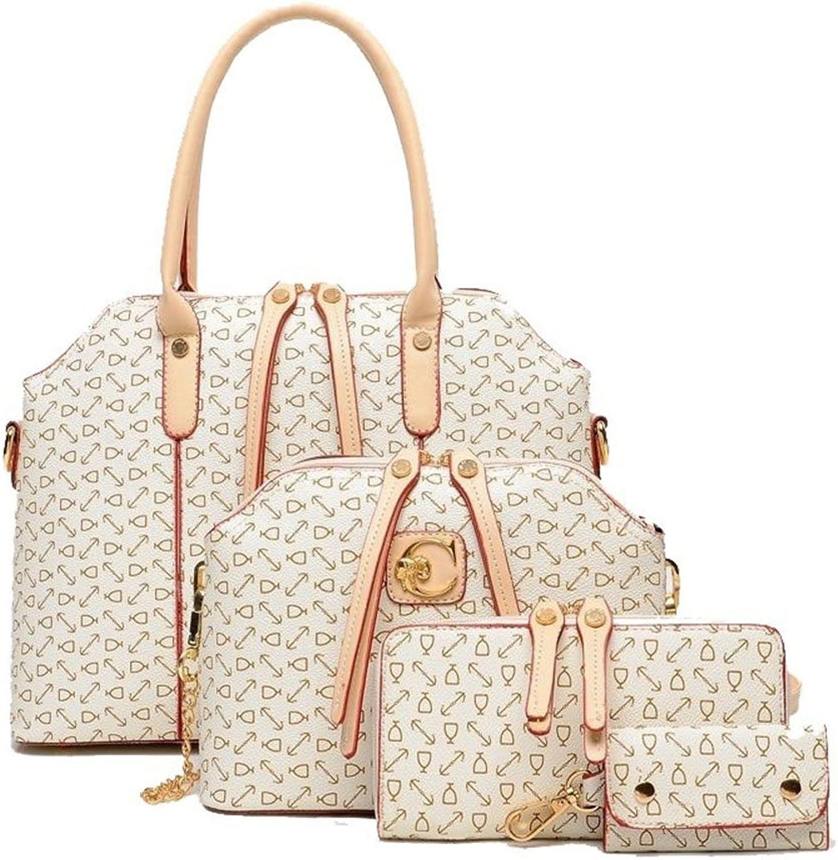 HFSX Handbags for Women Shoulder Bags Tote Satchel Hobo 4pcs Purse Set