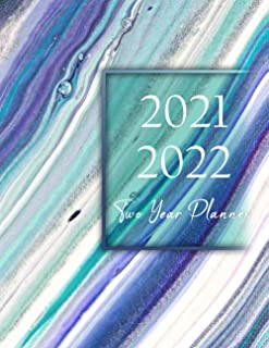 2021-2022 Two Year Planner: Watecolor Flower 2 Year Daily Weekly Monthly Calendar Planner 2021-2022 See It Bigger Planner