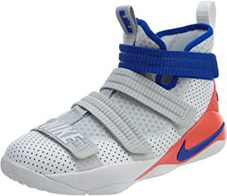Nike Kid's Lebron Soldier XI SFG (GS), White/Racer Blue-Infrared, Youth Size 4.5