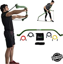 Gorilla Bow Portable Home Gym Resistance Bands and Bar System for Travel, Fitness, Weightlifting and Exercise Kit, Full Body Workout Equipment Set …