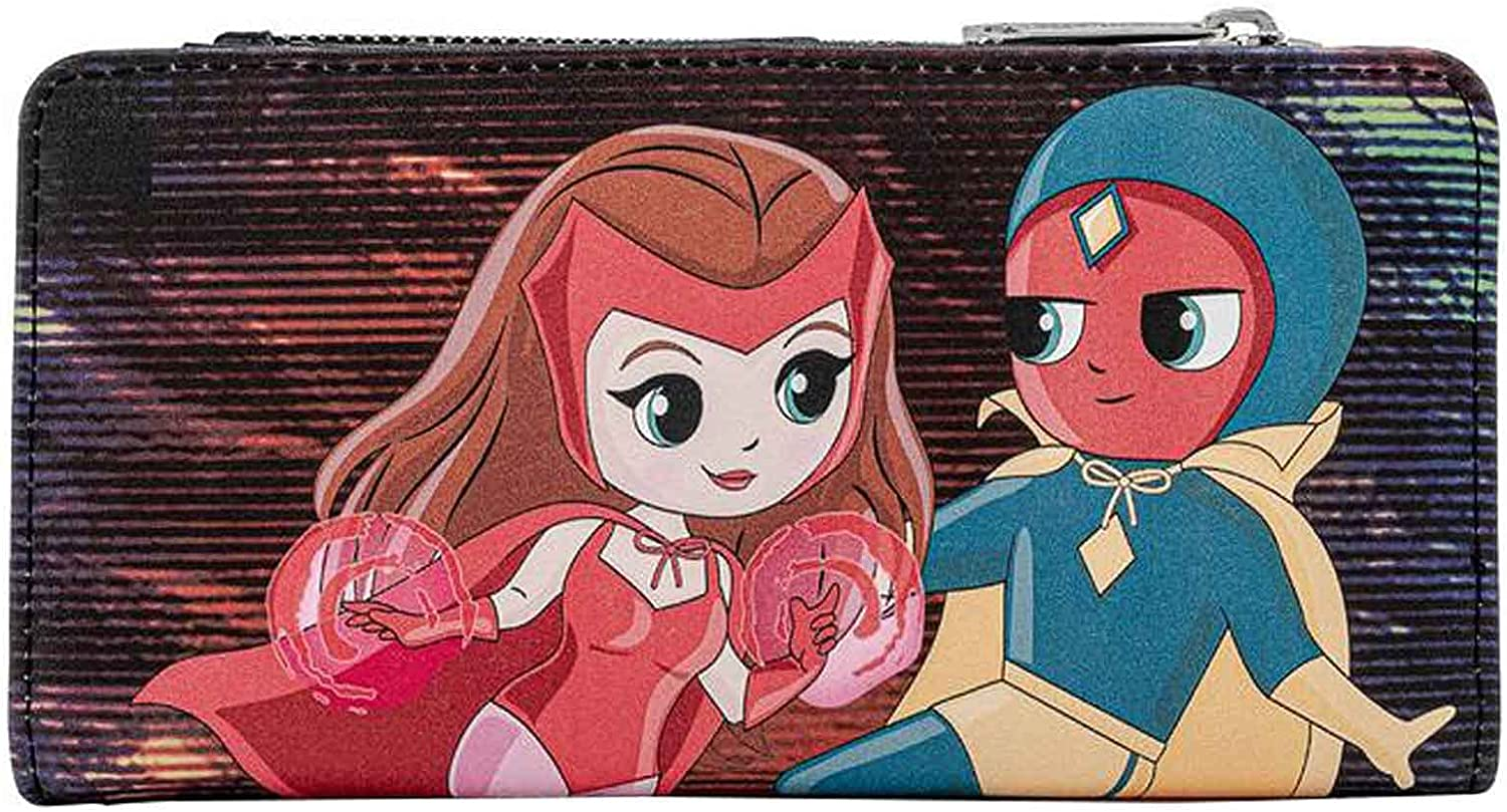 Limited time sale Loungefly Marvel Wanda Vision Chibi Wallet Leather Faux El Paso Mall