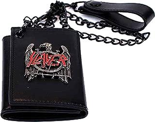 Slayer Black Eagle Metal Badge Trifold Chain Wallet